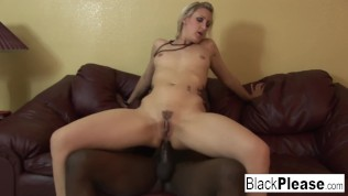 Blonde babe Angel Long takes a long black dick in her ass