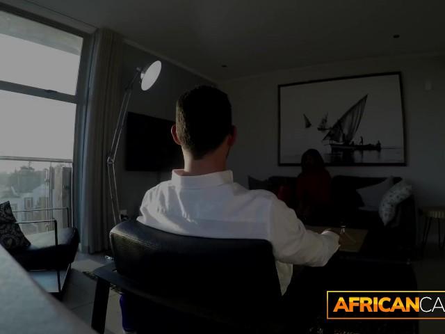 Ebony Fucks Young White Boy
