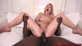 Hot girl Kali Roses taking a hard black cock