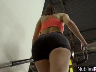 Fucked Busty Girlfriend Olivia Nova During Workout - Gym Selfie S1:E4