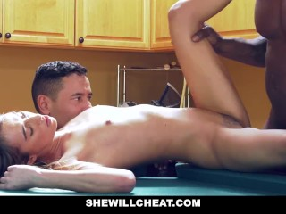 SheWillCheat – Lusty WIfe Cheats with big black cock