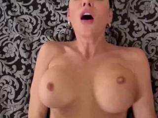 Spizoo - Sasha Summers sucking 2 big cocks, glory hole & big boobs