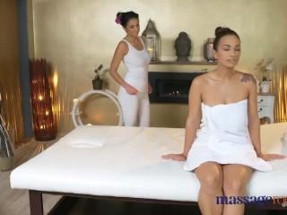 Massage Rooms Big Natural tits lesbian orgasm sex