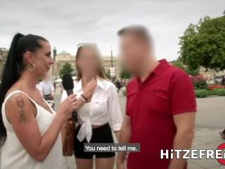 HITZEFREI Busty German babe Jacky Lawless Ass Fucked Outdoors
