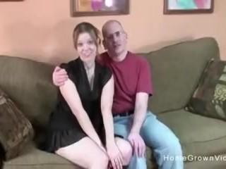 Cute petite blonde first deepthroat blowjob video