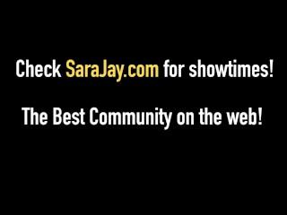 Sara Jay Fucks Cock With Sara Jay Fleshlight & Her Pussy!