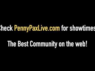 Hot Redhead Penny Pax Rims & Stuffs Lily LaBeau's Asshole!