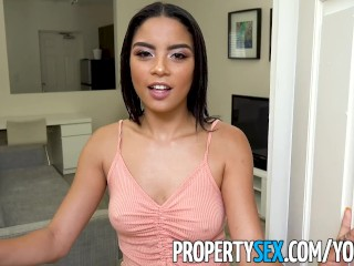 PropertySex - Landlord fucks wife's insane hot younger sister