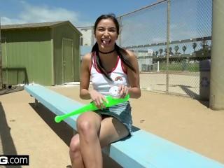 Emily Willis loves sucking dick at the baseball park!