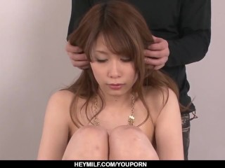 Rika Aiba sucks cock with passion then swallows - More at Japanesemamas.com