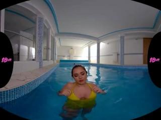 18VR.com Latina Teen Diana Rius Enjoys Your Pool And Hard Dick