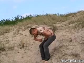 Pissing/beach smooth jock solo after