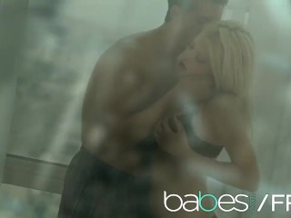 BABES - Sexy blonde Riley Steele sucks cock and gets fucked