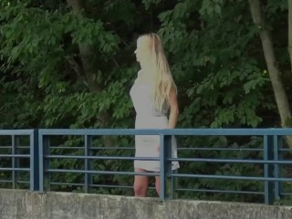 Got2Pee - Public pissing for gorgeous blonde with long hair