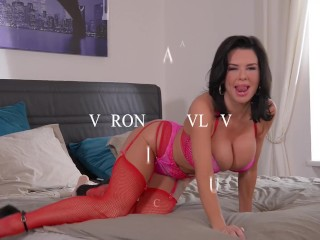 Super Horny Milf Veronica Avluv Fucks Herself With A Dildo and Magic Wand