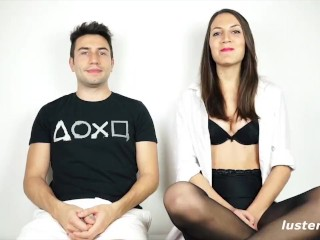 Kinky Couple Fucks Outdoors on Hammock