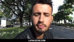 LatinLeche - Sexy Brazilian Guy Sucks and Fucked for Money