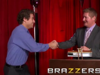 Brazzers - Big tit teen April O'Neil is the best game show prize