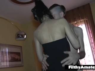 Amateur orgy with black cock fucking a milf