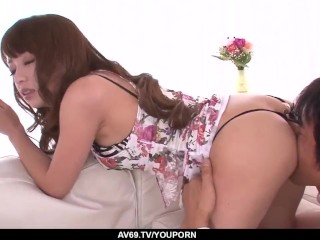 Hazuki Okita feels cock in pussy after top foreplay - More at 69avs.com