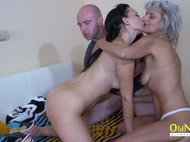 Mature Blonde Wife Threesome