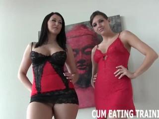 Cum Swallowing And Femdom Cum Eating Videos