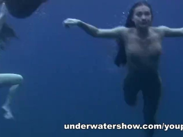 underwater swimming nude