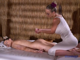 Massage Rooms Sybil Kailena sexy massage with busty blonde Nathaly Cherie