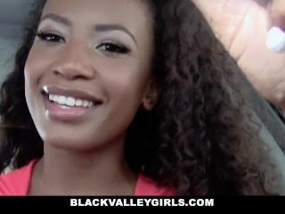 BlackValleyGirls - Hot Black Teen Caught Masturbating in Car