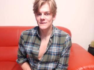 Flirt4Free Model Olaf Mortensen - Euro Blonde Model Hunk Wanks His Uncut Cock