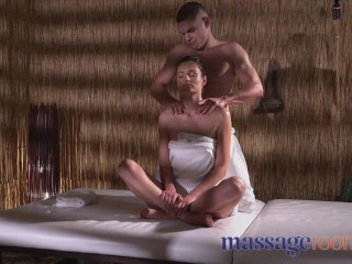 Massage Rooms Slim elegant young and wet Czech beauty fucked by masseur