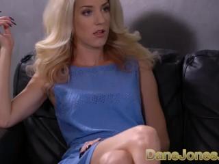 Dane Jones Sexy Hungarian blonde Monique Woods rides reverse cowgirl