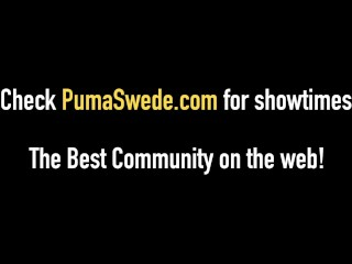 Platinum Blonde Puma Swede Mouth & Pussy Fucks Big Cock!