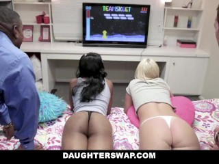 DaughterSwap - Gamer Nerds Fuck Each Others Dads