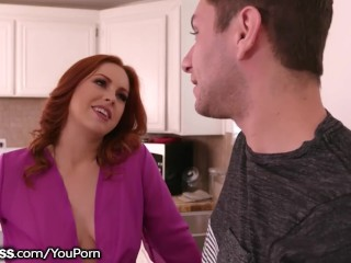 BlowPass Ex-Stripper Redhead Stepmom Blows Son!