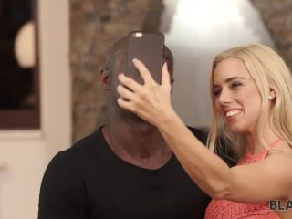 BLACK4K. Interracial porn video of young couple who loves selfies
