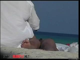 Sexy nudists in hidden web camera beach shots