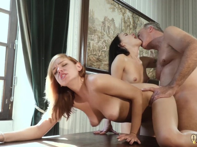 Hot Old And Young Threesome Sex During A Job Interview -5055
