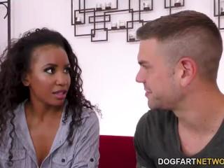 Ebony Demi Sutra Tries Her Spanish Teacher's Big Dick