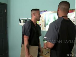 PrideStudios Hairy Black Dude & Latino Best Friend Fuck On The Job