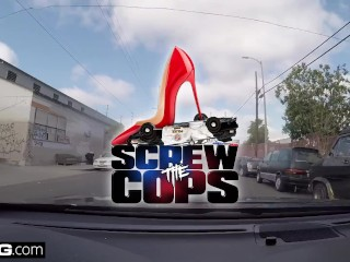 Screw The Cops - baughty thick white girls gets fucked by cop