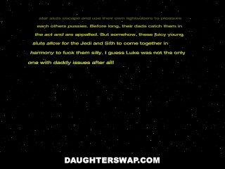 DaughterSwap - Fucking Each Others Pussies With Light Sabers