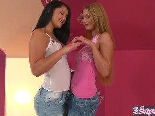 Twistys - Lesbian euro teens Antonia and Lana finger and lick some sweet pussy