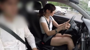 Caught riding a test drive with no panties on