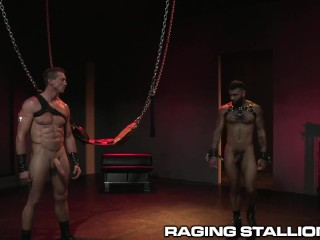 RagingStallion Hunk Big Dick Fetish Daddy Fun With Cute Latino