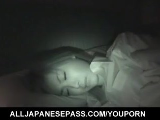 Mai Yamasaki wakes up for a hot blowjob and gets hairy cunt fucked  - More at hotajp.com