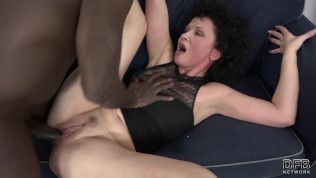 His big black cock makes the mature housewife have multiple orgasms