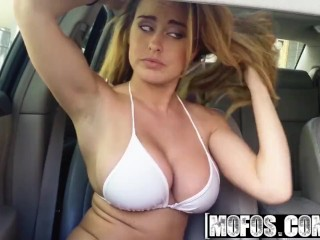 Mofos - OffDuty Lifeguard Corinna Blake gets fucked in the back seat of a car