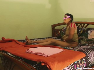 Desi Horny Indian Bhabhi Amrita With Young Lover Passionate Fucking