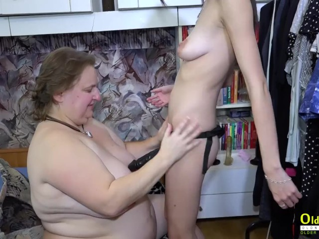 Lesbian Old Young Threesome